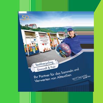 Broschüre Textilrecycling Wittmann