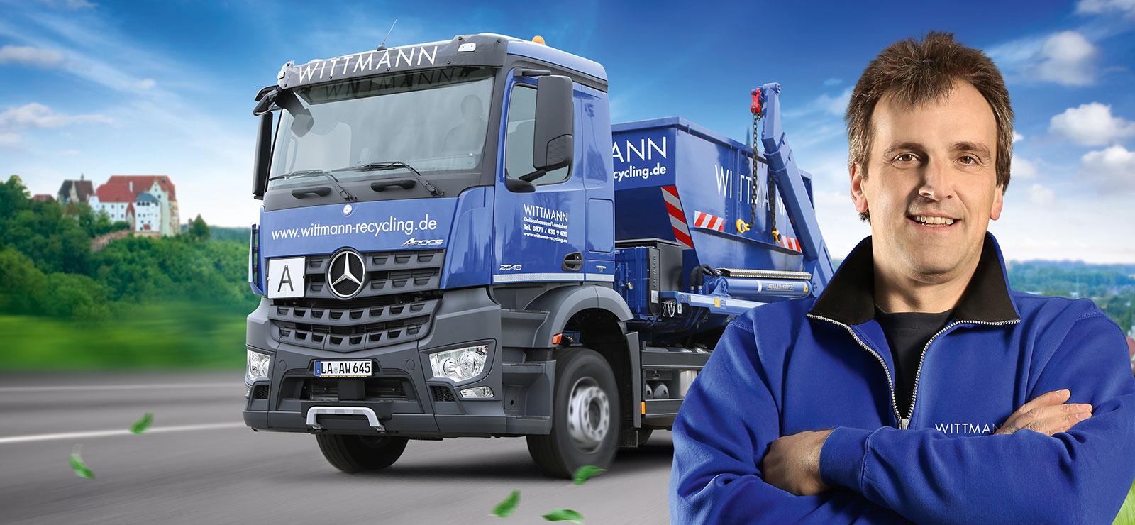 Wittmann Recycling Headerbild der Kontaktseite