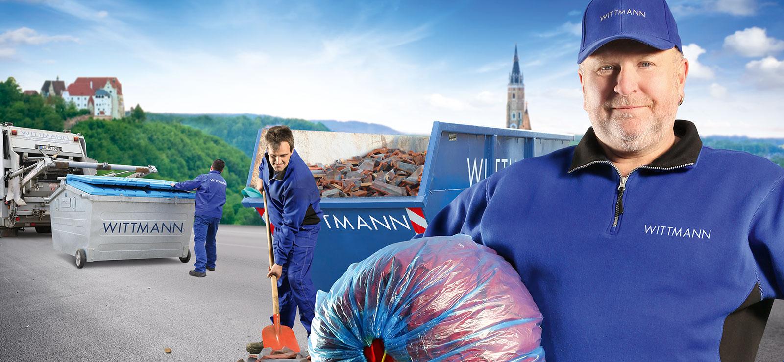 Wittmann Recycling Headerbild der Recyclingserviceunterseite