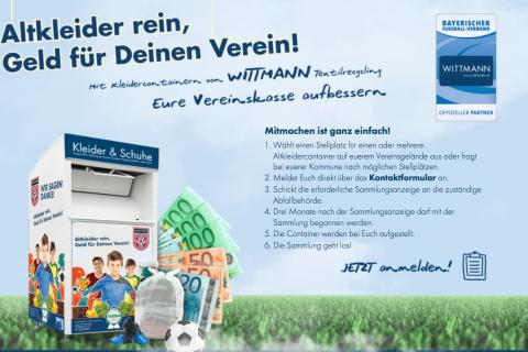 Wittmann Recycling Aktion für BfV Vereine