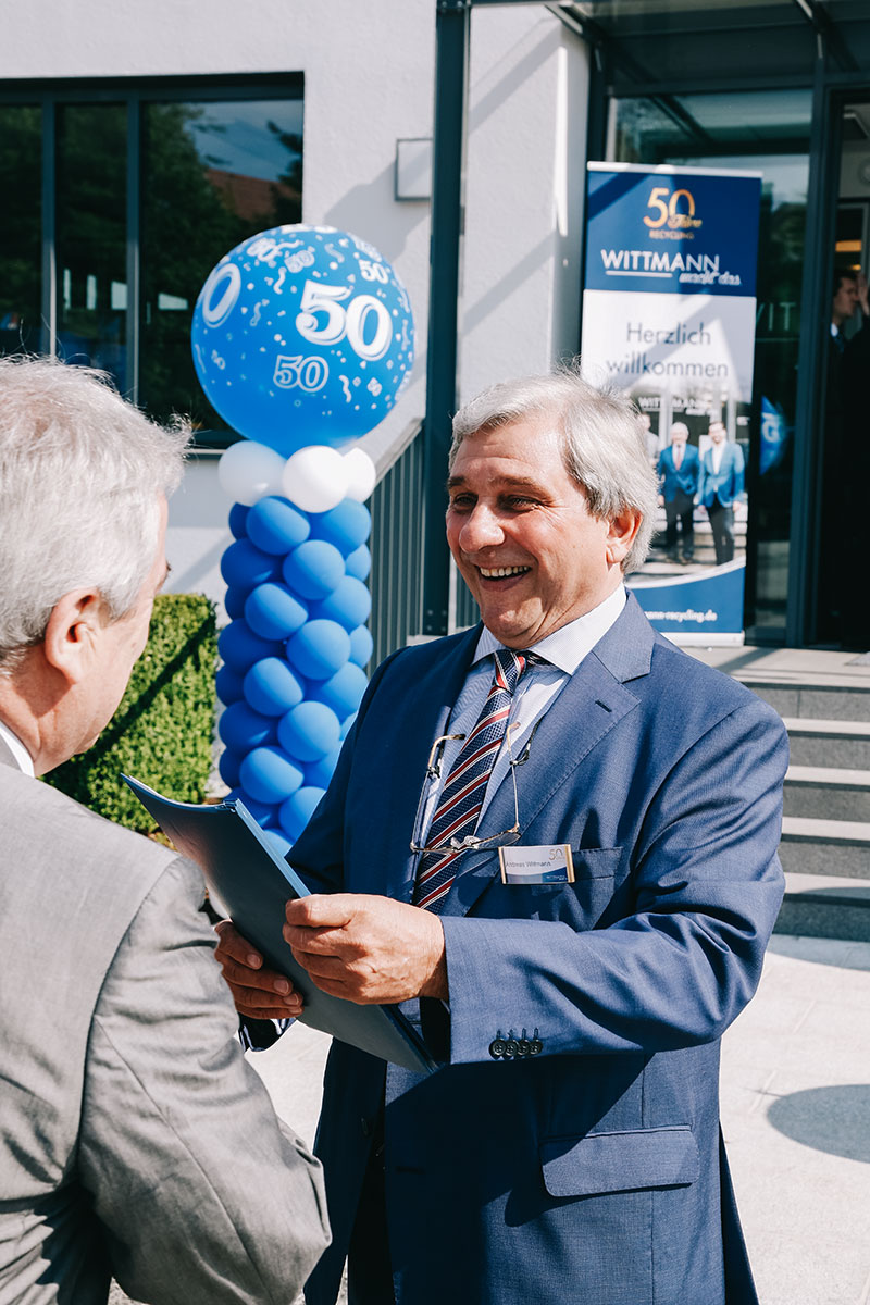 Andreas Wittmann auf dem 50 Jahre Wittmann Recycling Jubiläum