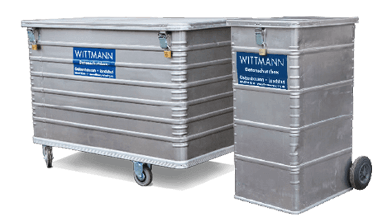 Datenschutz Box von Wittmann Recycling
