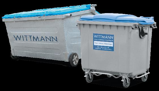 Umleer Behälter von Wittmann Recycling