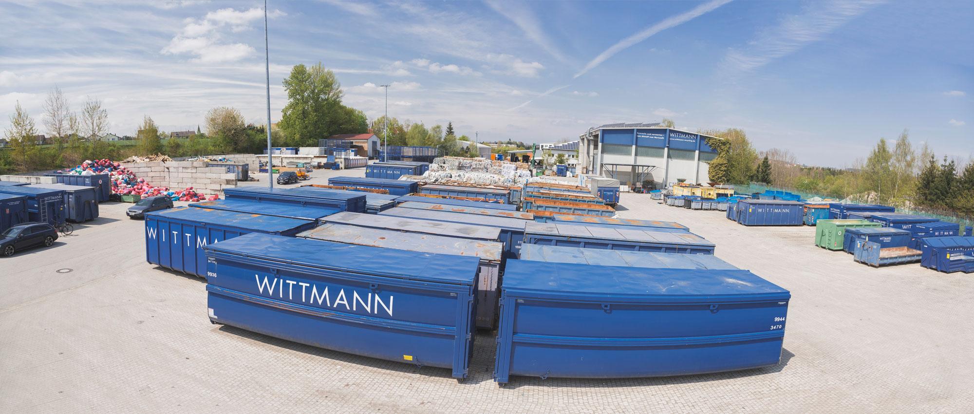 Das Wittmann Recycling Gelände