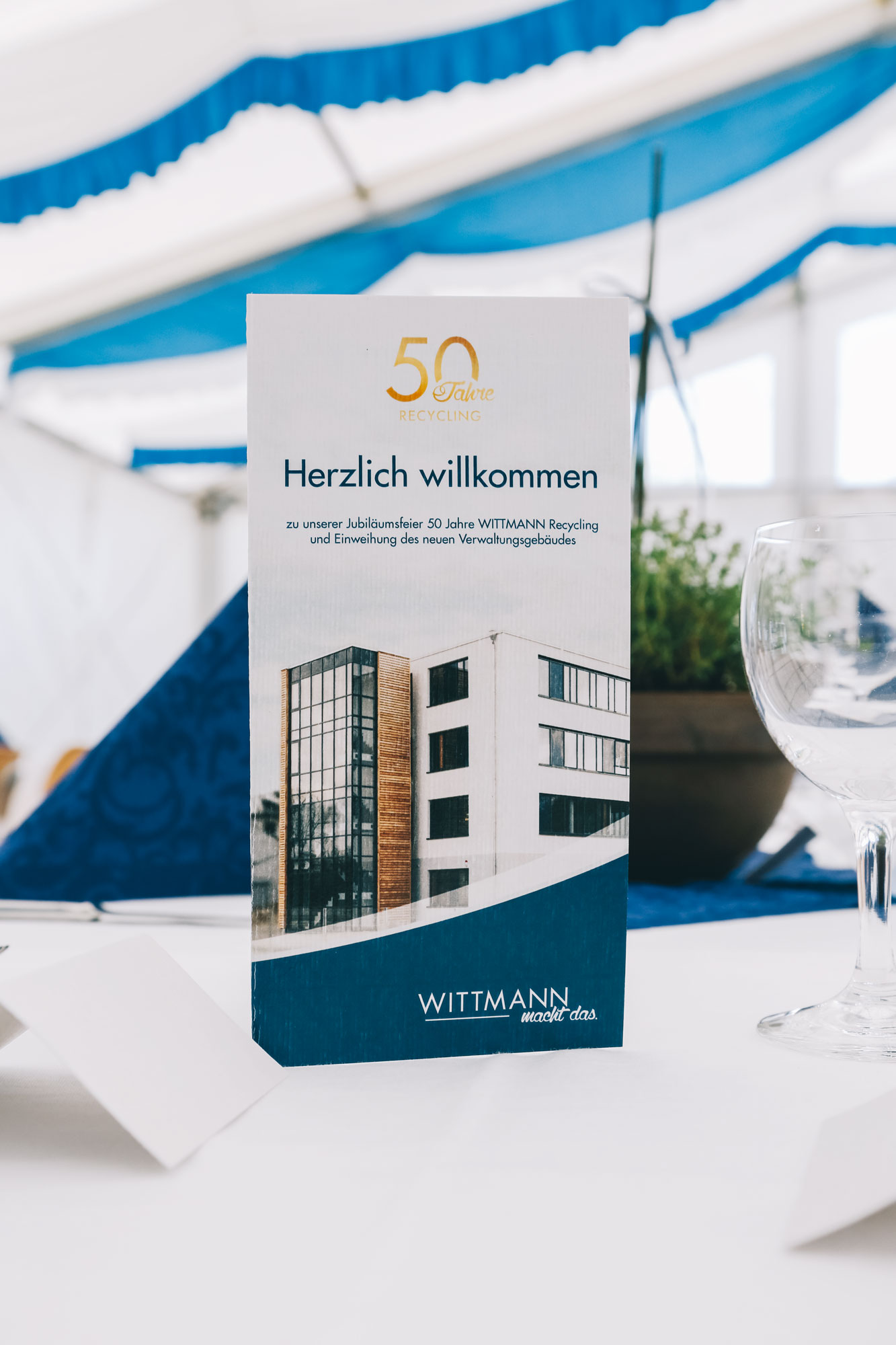 Die 50 Jahre Wittmann Recycling Jubiläumskarte