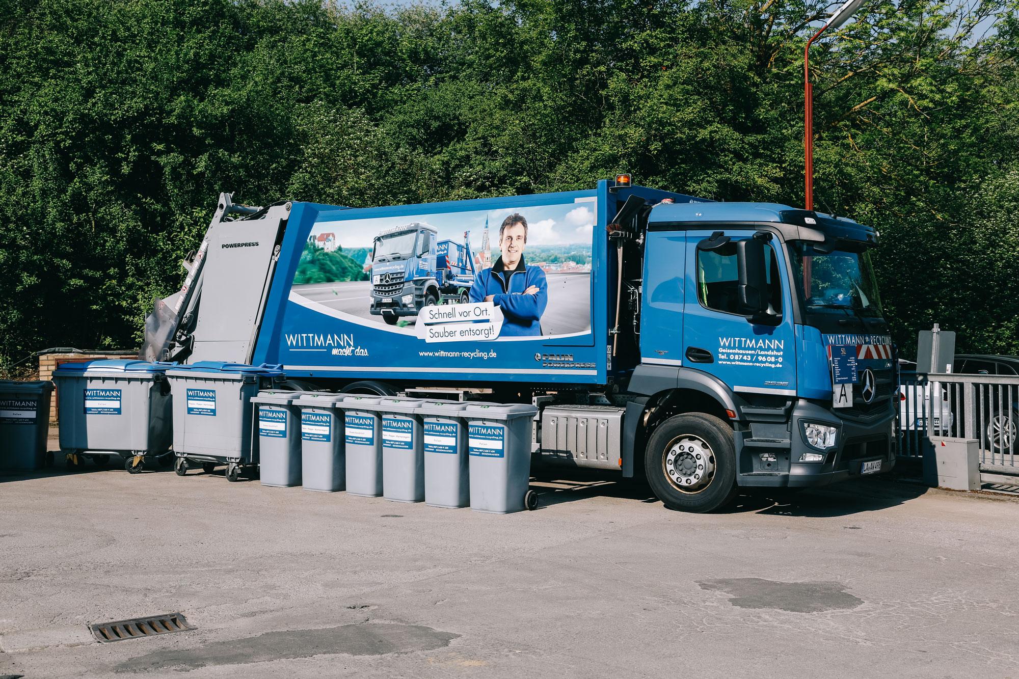 Ein Wittmann Recycling Laster