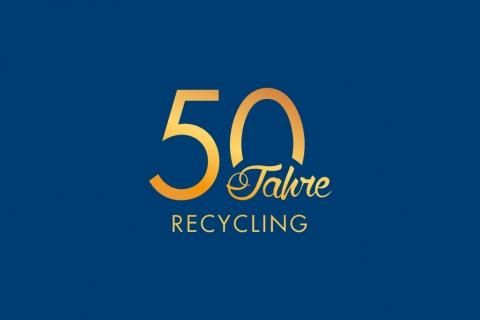 50 Jahre Wittmann Recycling Logo
