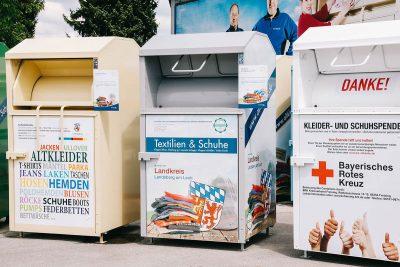 Container von Wittmann Recycling beim Firmenjubiläum