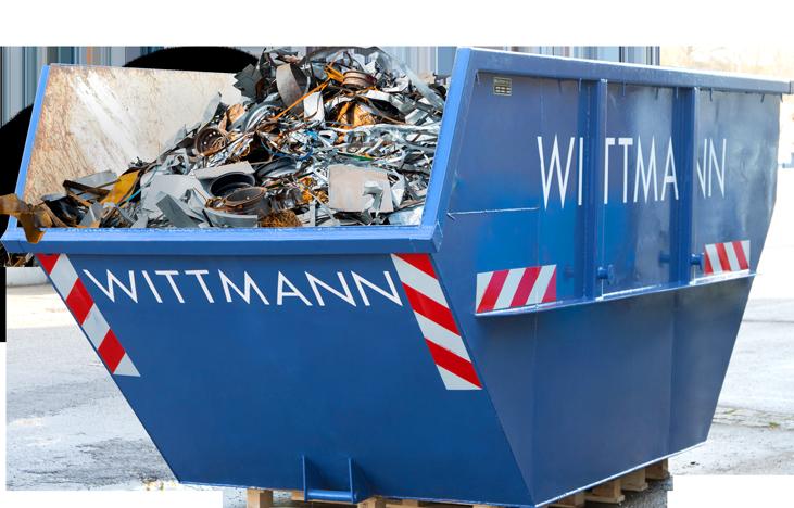 Altmetall Container fürs Recyclen von Metallen