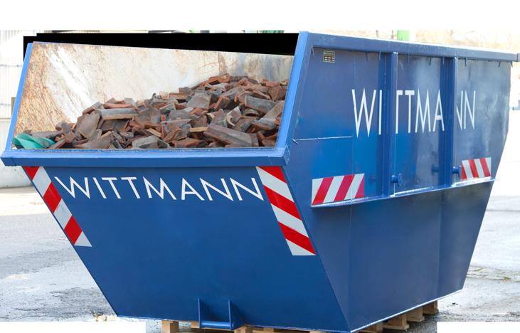 Wittmann Recycling Container für Bauschutt