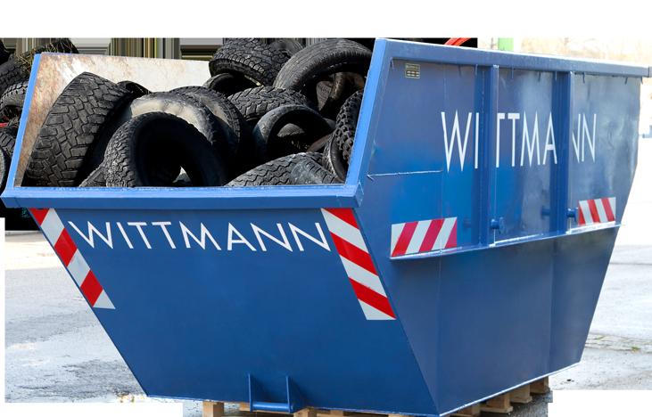 Reifen Container für die Müllentsorgung für Ihr Gewerbe